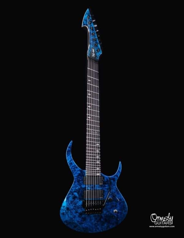 Artist Series Rusty Cooley RC-One GTR - Blue Marblizer